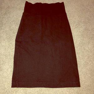 Black Bodycon Pencil Skirt
